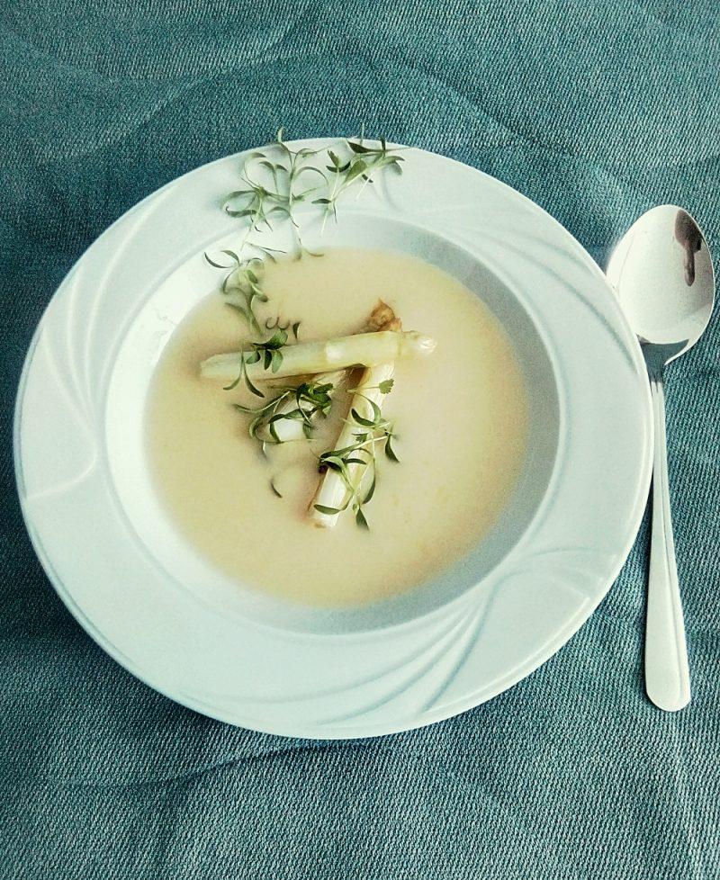 supa veloute din sparanghel alb