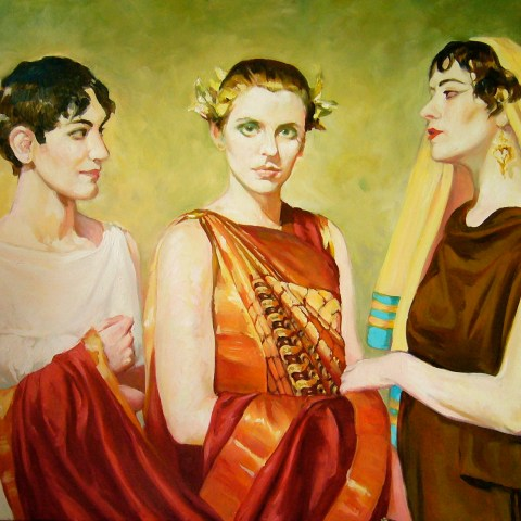 Students Going to a Greco-Roman Party