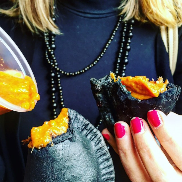 Back to black. Chila's empanadas al carbon.
