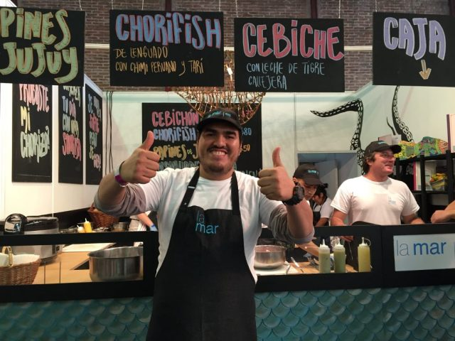 La Mar's Anthony Vasquez, king of the chorifish at Masticar 2016.