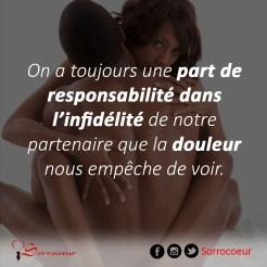 part de responsabilité et infidélité