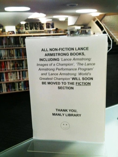 Ooh, Australian public library burn.