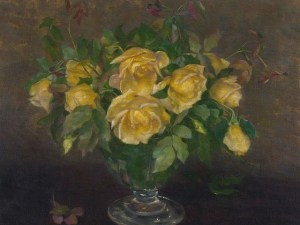 Whats burn in hell in the language of flowers sorrywatch image still life with roses ii by ivana kobilca public domain mightylinksfo