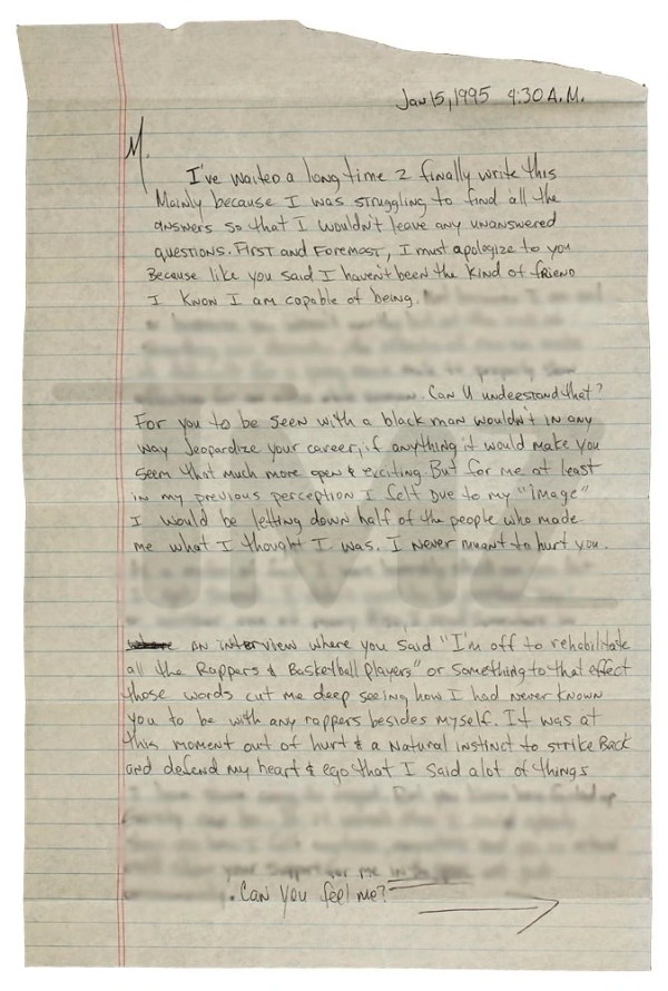 Tupac's letter to Madonna | SorryWatch