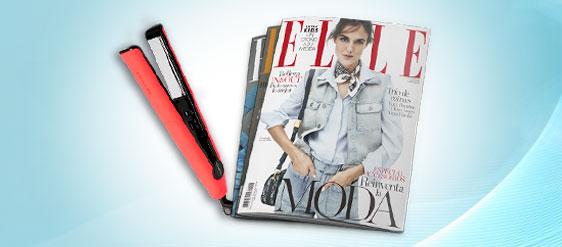 Sorteo de 12 números Revista Elle + plancha profesional.