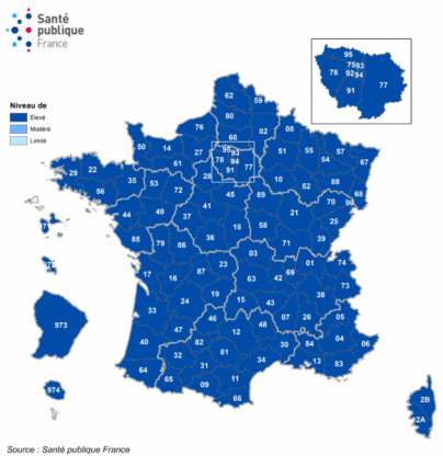 Map of France Covid on November 18: the occupancy rate of intensive care beds by region