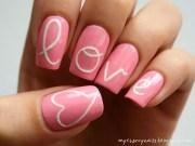 cute nail art design valentine's
