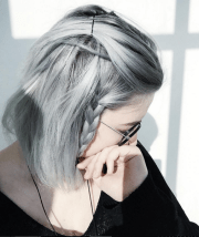 trendy and gorgeous grey hair