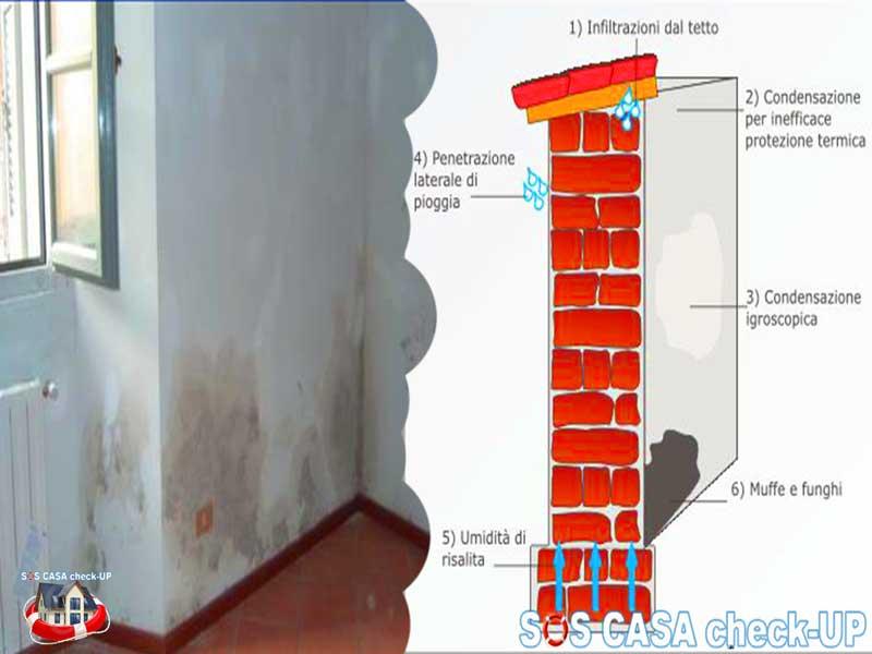 Macchie di umidit sul soffitto Come individuare le cause  SOS Casa Check UP