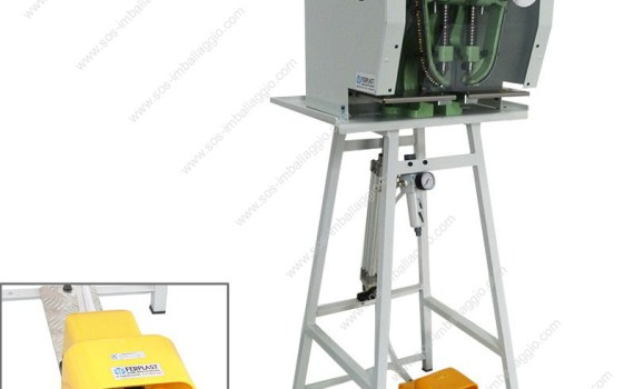 2 heads pneumatic eyeletting machine