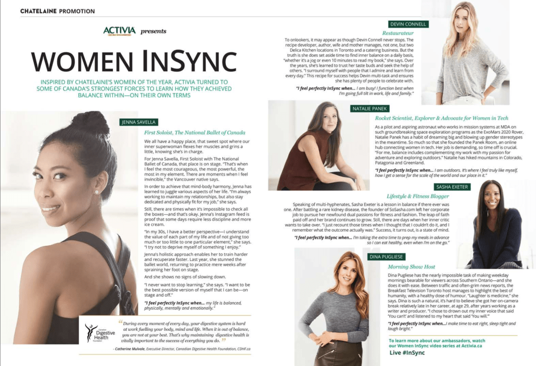 Sasha Exeter | Activia Women InSync National Campaign
