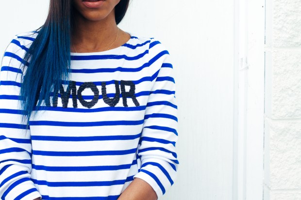 424 Fifth Breton Stripe Amour Shirt