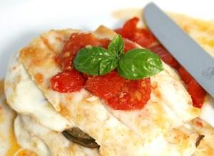 Parmigiana di Pesce Spatola con Mozzarella di Bufala