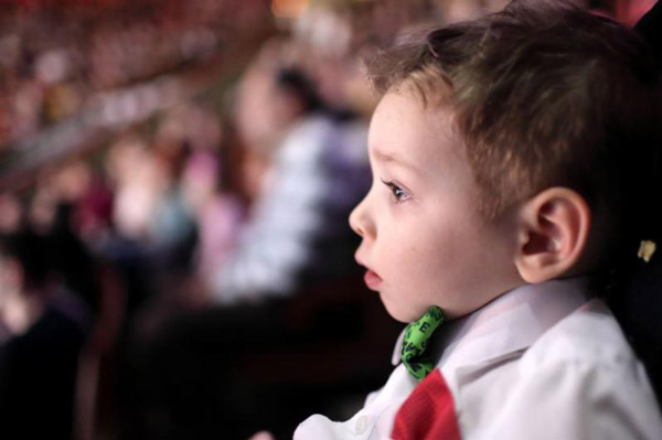 Little Boy in the audience