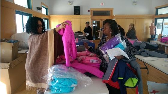 SOS Illinois staff sort through donation