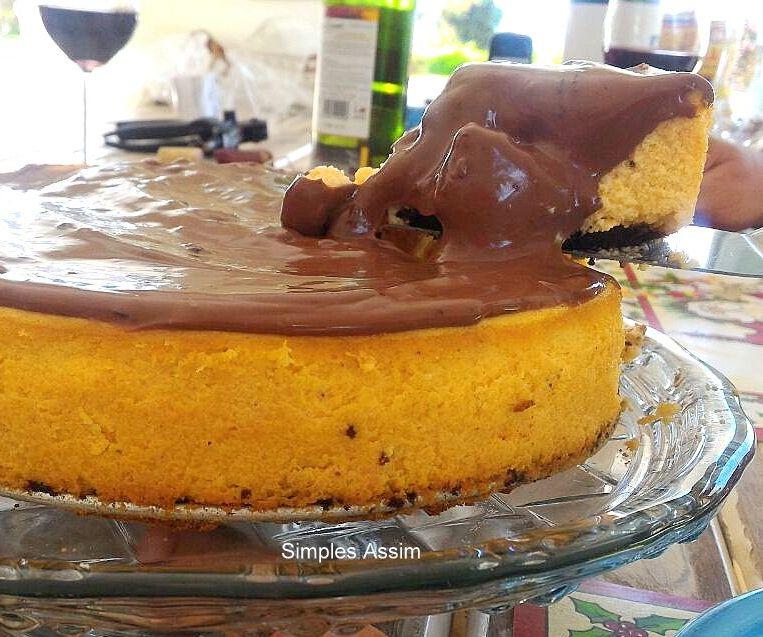 cheesecake de bolo de cenoura