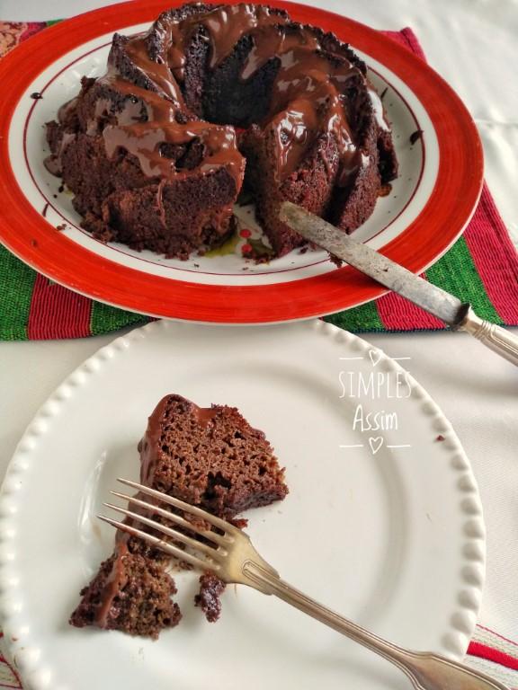 Este Bolo de chocolate com banana lowcarb é gostoso e saudável