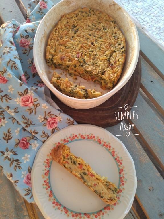 Torta de espinafre e cenoura sem glúten e muito gostosa.