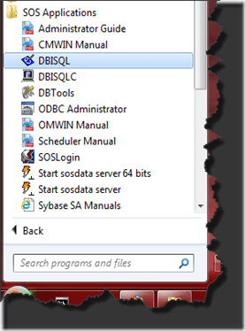 DBISQL_StartMenu
