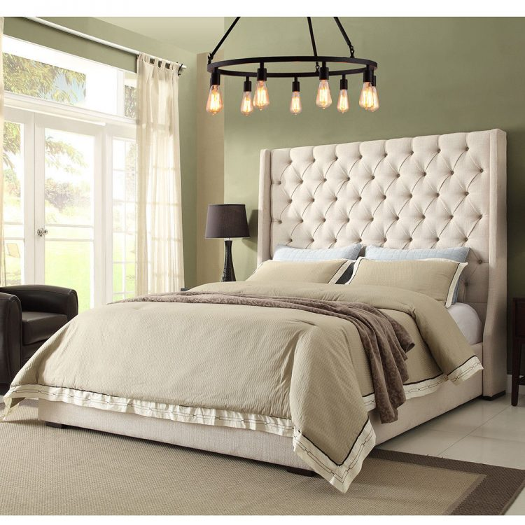 tall oxford wingback bed 60