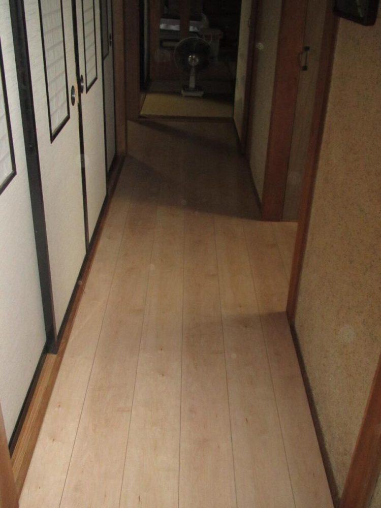床の段差解消 フローリング 増し貼り工事後