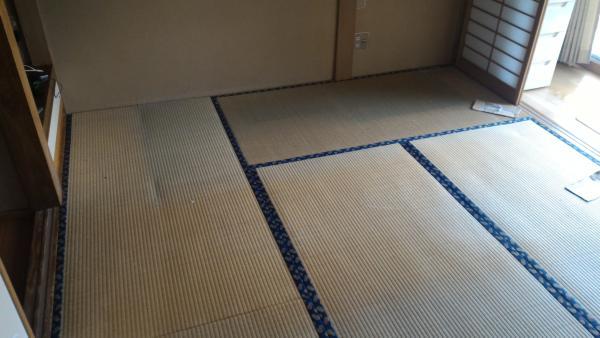 段差解消 和室 畳から フローリング に リフォーム 工事前
