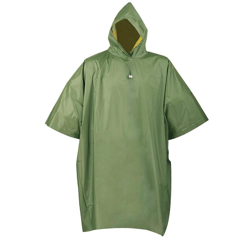 HeavyDuty Reversible Rain Poncho with Hood  Sleeves