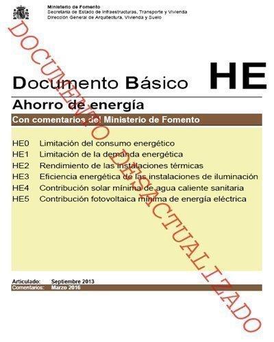 nota técnica: ACTUALIZACIÓN DE LOS DOCUMENTOS DB HS, DB HE, DB SI Y DB SUA 29 de junio de 2018