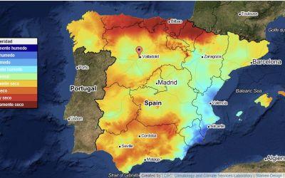 Monitor de la sequía meteorológica en España de la AEMET
