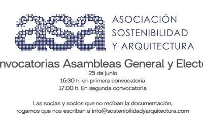 Convocatoria Asamblea General y Electoral ASA