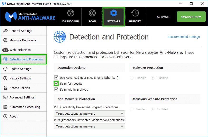Scan_for_Rootkit_Detection_and_Protection_Malwarebytes_Anti_Malware_sos-malware Tutorial Malwarebytes Anti-Malware