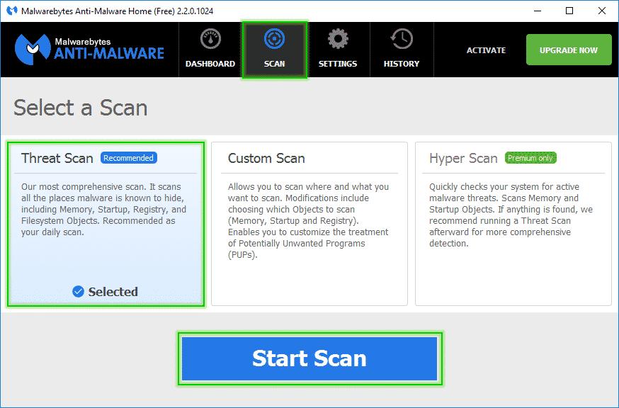 Start_Threat_Scan_Malwarebytes_Anti_Malware_sos-malware. Tutorial Malwarebytes Anti-Malware mbam MalwareBytes Anti-Malware