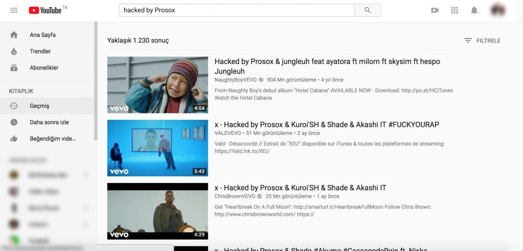 YouTube hacklendi
