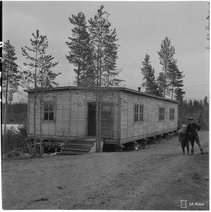 Ylämyllyn varuskunnan sotilaskoti vuonna 1943.