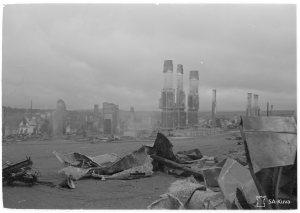 Perääntyvät saksalaiset käyttivät Lapin sodassa poltetun maan taktiikkaa