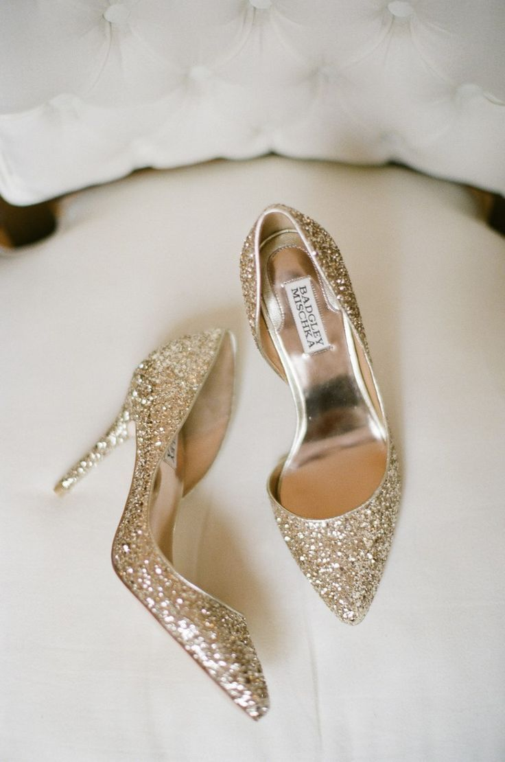 Badgley Mischka Gold Shoes | Photo Credit