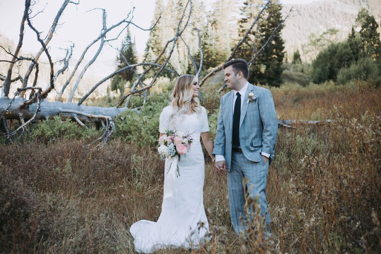 Bride and Groom in Pacific North West