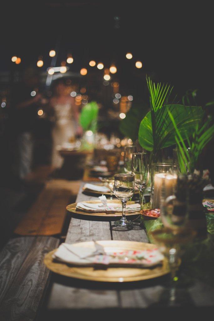Hawaiian Wedding Reception