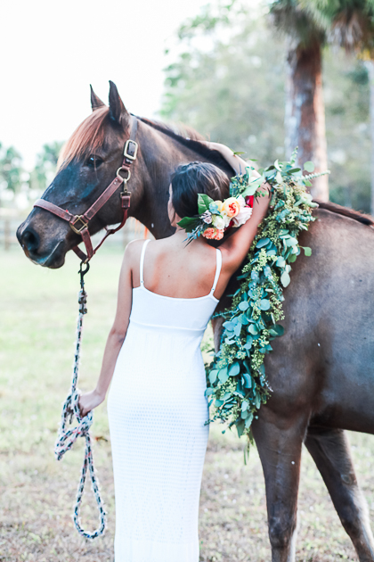 Equestrian Boho Floral Wedding