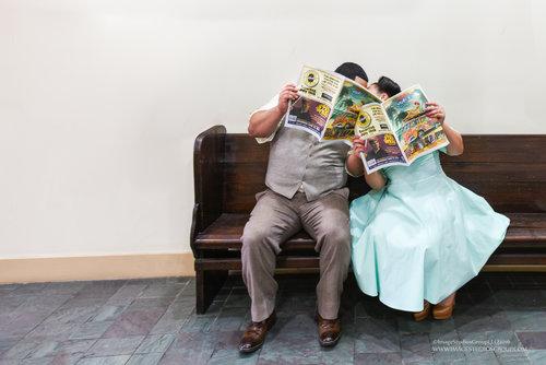 Dapper Couple | Pop Up Wedding