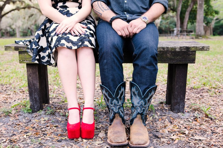 Stylish Couple - Groom Wearing Cowboy Boots