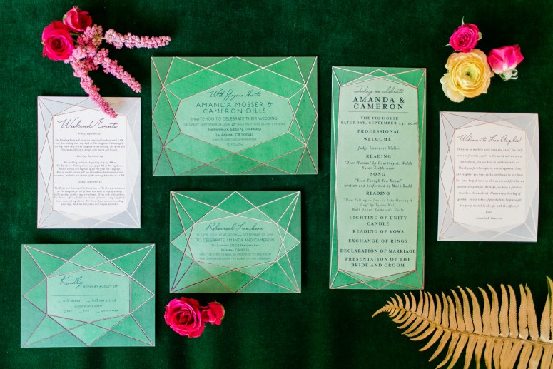 Tropical Greenery Wedding Stationery Suite