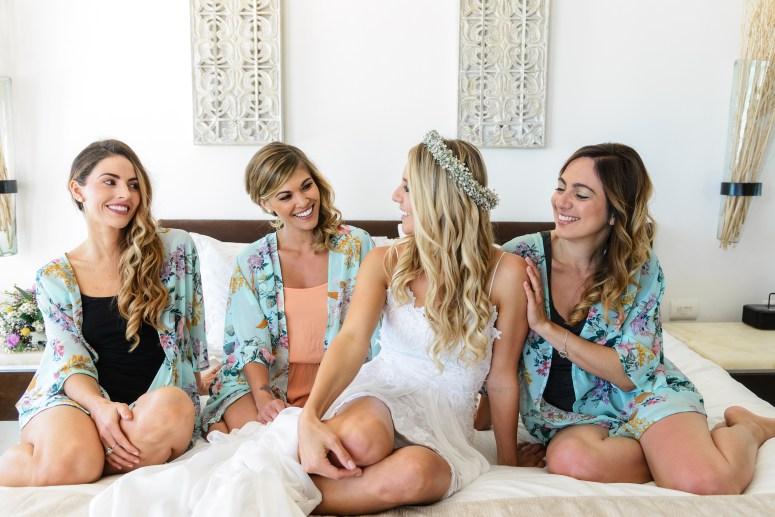 Bride Squad in Bridal Robes
