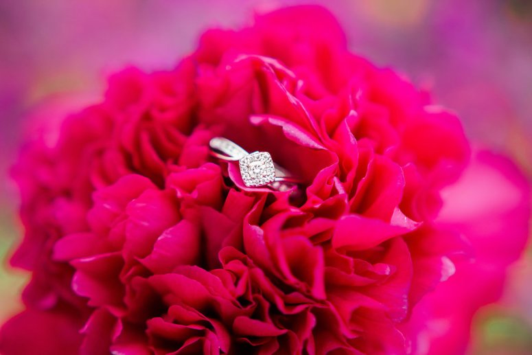 Engagement Ring picture in Red Flower