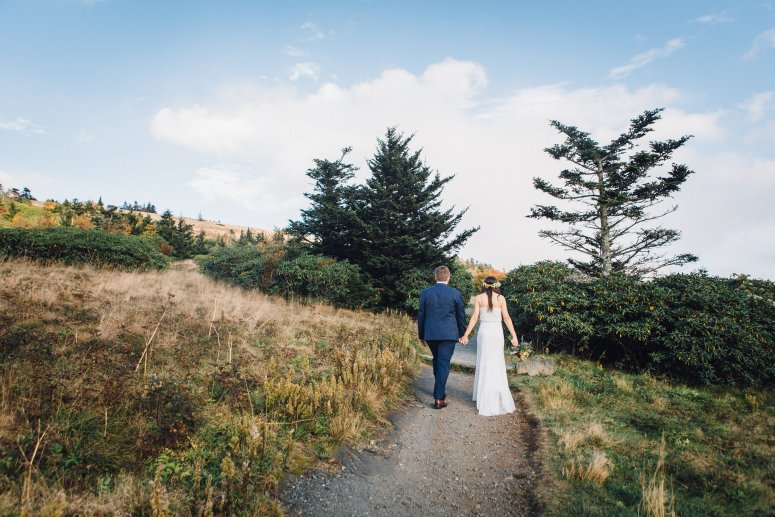 Bride and Groom on Appalachian Trail
