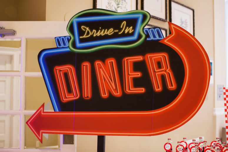 Drive In Diner neon sign