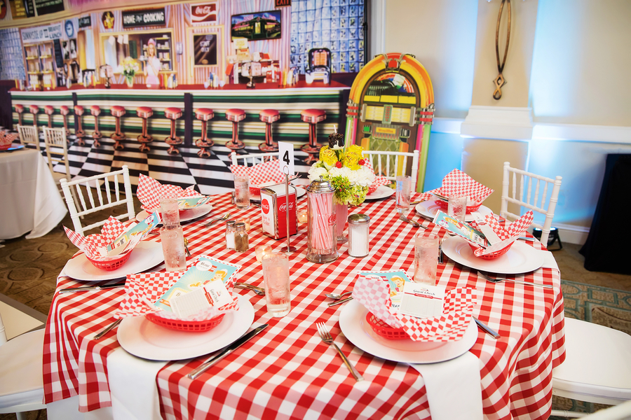 1950s themed table setting