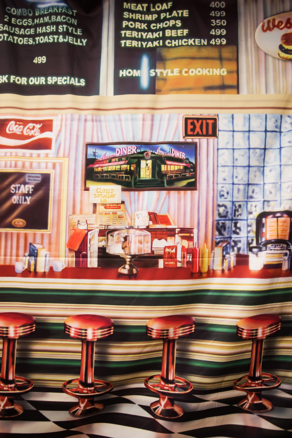 1950s party themed decor