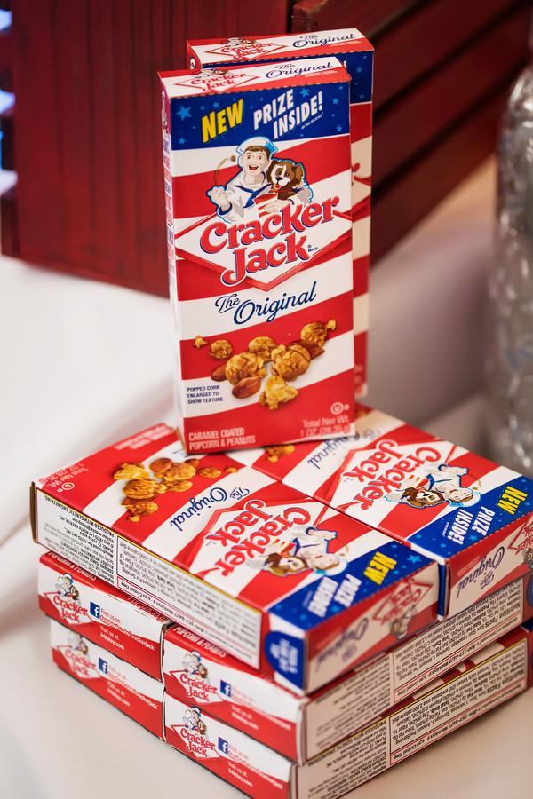 Cracker Jack boxes display