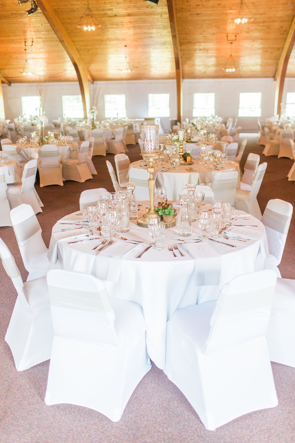 Neutral Color Wedding Reception Settings